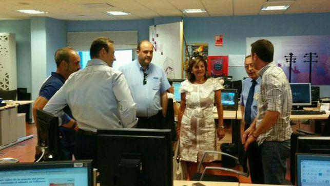 Carmen Amores en las oficinas de Radio Televisión Castilla-La Mancha / Foto: UGT RTVCM