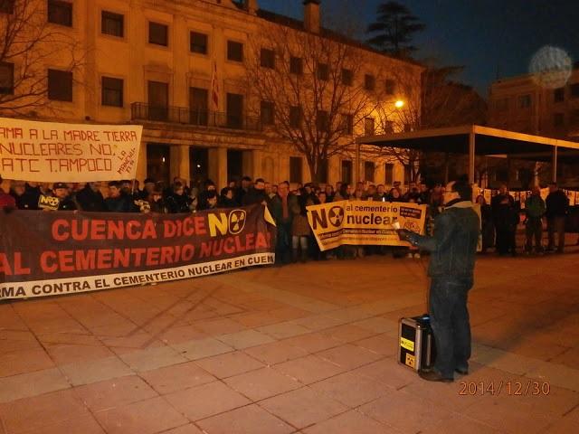 Imagen de archivo de una protesta frente a la Subdelegación del Gobierno en Cuenca.
