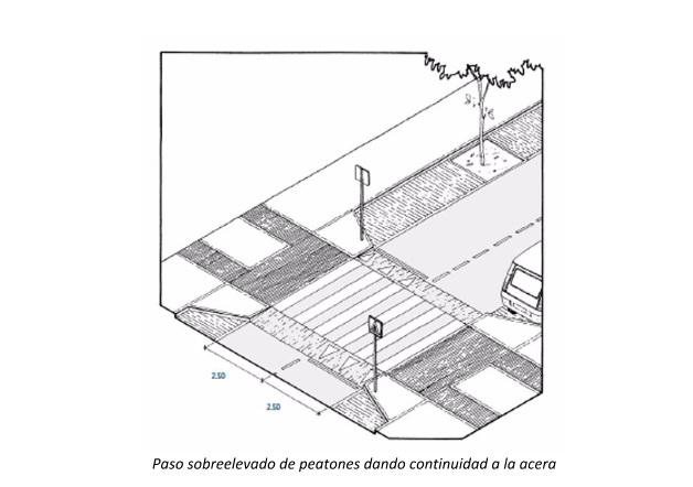 fondo sobreelevado de peatones