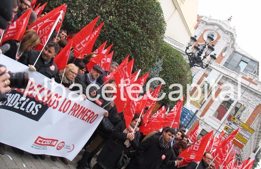 La precariedad laboral y el bloqueo en las negociación colectiva sacan a la calle a CCOO y UGT Albacete