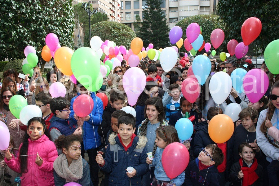 VÍDEO Y FOTOS  Albacete celebra el Día contra el Cáncer Infantil