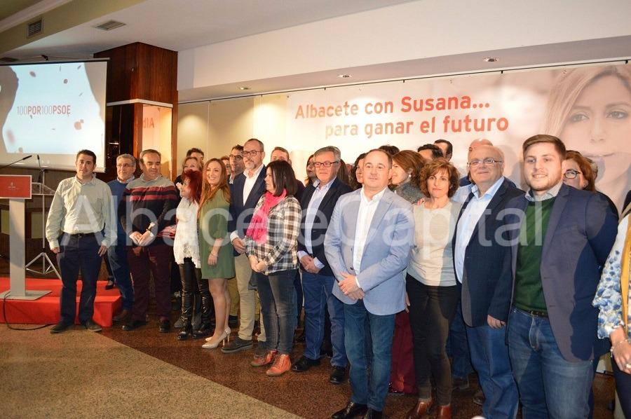 Socialistas de  Albacete se unen para apoyar la candidatura de Susana Díaz