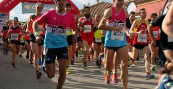 María José de Toro y Pedro Luján vencieron en la X Carrera Popular de Barrax