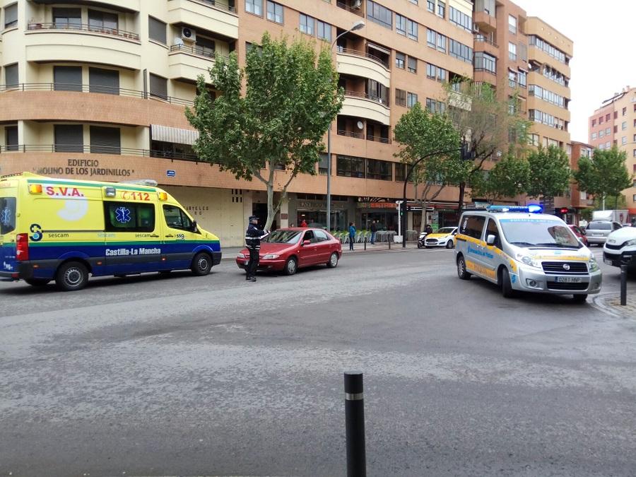 Un motorista herido en un accidente en plena ciudad