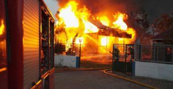 Violento incendio en Munera